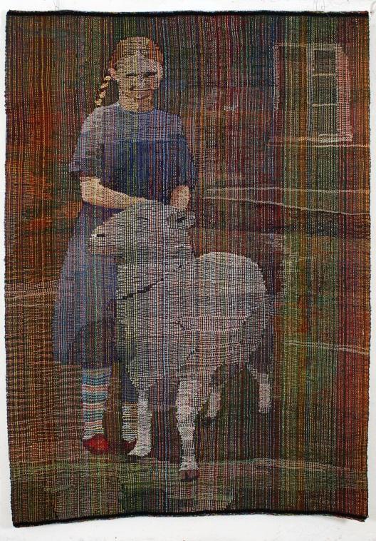 Gudrun og bukken Burmann,2011,ull+div.200 x 140 cm